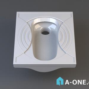توالت ایرانی پارس سرام کارنو دانلود آبجکت ۳dmax توالت ایرانی با نور و متریال آبجکت ۳D توالت ایرانی با نور و متریال