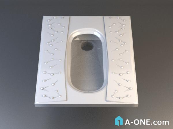 دانلود آبجکت 3d max توالت ایرانی با نور و متریال آبجکت توالت ایرانی چینی کرد با نور ومتریال                                       600x447
