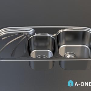 رام استیل دانلود آبجکت 3d max سینک توکار آشپزخانه با نور و متریال آبجکت ۳D سینک توکار آشپزخانه رام استیل با نور و متریال                   300x300