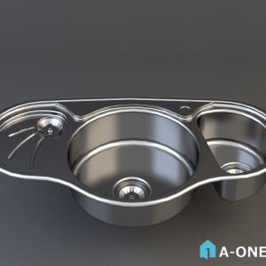 سینک استیل البرز تو کار دانلود آبجکت 3d max سینک آشپزخانه با نور و متریال آبجکت ۳D سینک آشپزخانه استیل البرز با نور و متریال                                            300x300