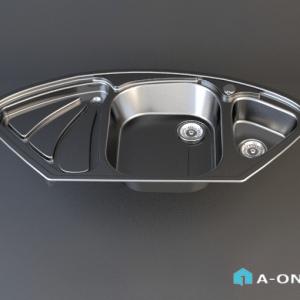 سینک توکار اخوان دانلود آبجکت 3d max با نور و متریال آبجکت ۳D سینک آشپزخانه اخوان با نور و متریال                                300x300