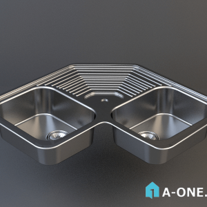 sink دانلود آبجکت 3d max سینک توکار آشپزخانه با نور و متریال آبجکت ۳D سینک توکار استیل البرز آشپزخانه با نور و متریال sink1