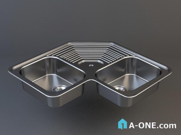 دانلود آبجکت 3d max سینک توکار آشپزخانه با نور و متریال آبجکت ۳D سینک توکار استیل البرز آشپزخانه با نور و متریال sink1 600x450
