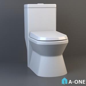 توالت حمام داغ دانلود آبجکت 3d max با نور و متریال آبجکت ۳D توالت فرنگی با نور و متریال