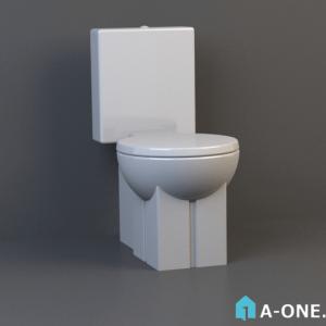 توالت فرنگی موست دانلود آبجکت 3d max با نور و متریال آبجکت ۳D توالت فرنگی با نور و متریال