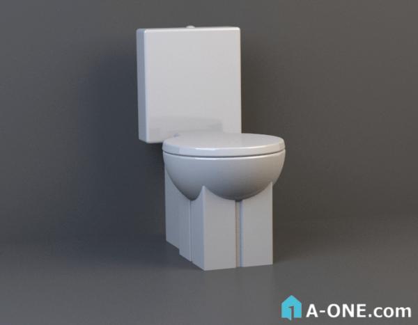 دانلود آبجکت 3d max با نور و متریال آبجکت ۳D توالت فرنگی با نور و متریال                                600x467