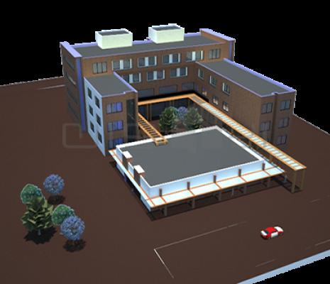 طراحی ساختمان اداری دانشگاه آزاد اسلامی  دکوراسیون داخلی 56 465x400 1