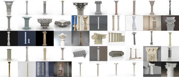 پکیج کامل آبجکت سه بعدی ستون های کلاسیک Untitled 13 600x257
