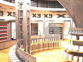 ۱ طراحی غرفه فروشگاه x3 طراحی غرفه فروشگاه x3 1 4  t