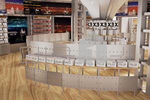 ۳ طراحی غرفه فروشگاه x3 طراحی غرفه فروشگاه x3 3 5  t