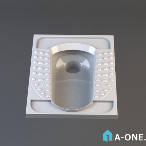 آبجکت ۳D توالت ایرانی پارس سرام با نور و متریال