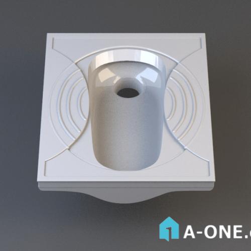 آبجکت ۳D توالت ایرانی با نور و متریال