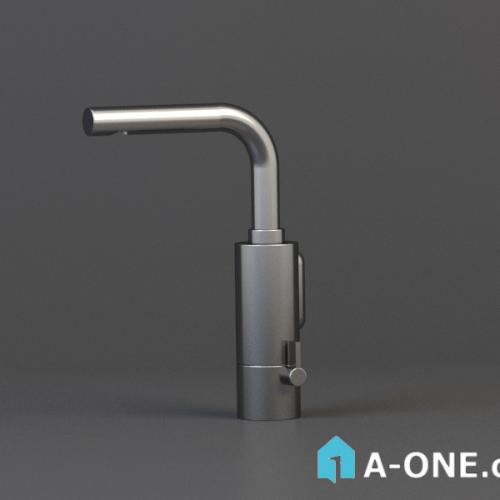 آبجکت ۳D شیر سینک آشپزخانه با نور و متریال