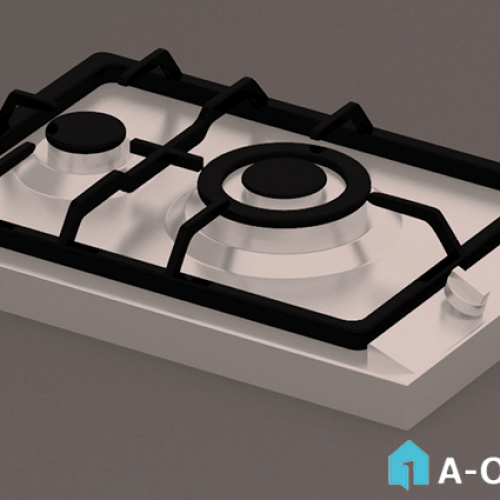 آبجکت ۳D اجاق گاز رومیزی لتو با نور و متریال