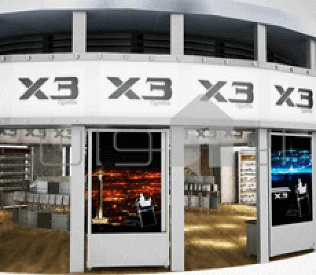 طراحی غرفه فروشگاه x3