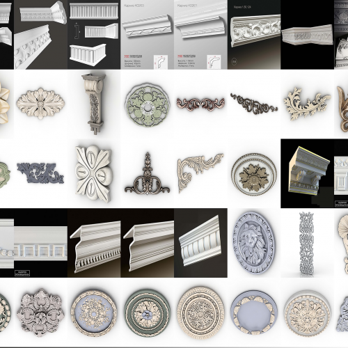پکیج کامل آبجکت سه بعدی گچبری ۲