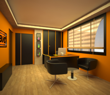 طراحی داخلی لابی دفتر مرکزی شرکت بیک