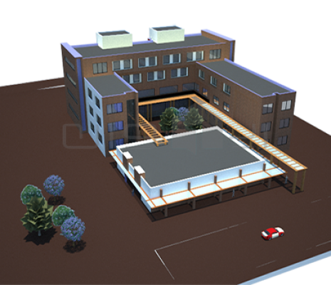 طراحی ساختمان اداری دانشگاه آزاد اسلامی